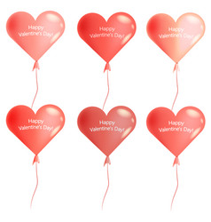 design of the balloons for valentines day vector image
