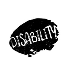 Disability rubber stamp vector