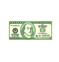 dollar currency banknote vector image