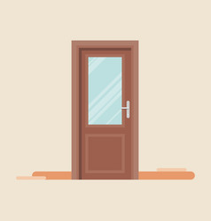 Door icon in flat style vector
