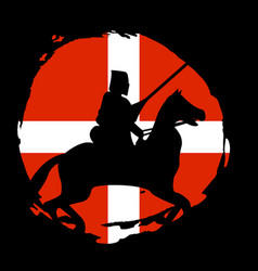 england knight warrior silhouette on black vector image