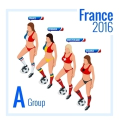 European football championship in France Group A vector