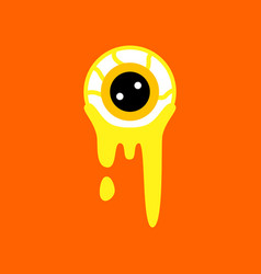 flat icon on background halloween zombie eyes vector image vector image