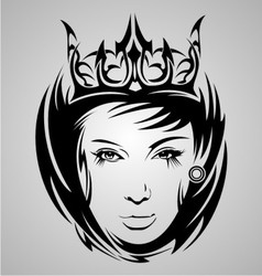 Girl Face Tribal vector