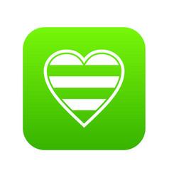 heart lgbt icon digital green vector image