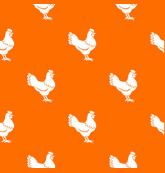 hen pattern seamless vector image vector image