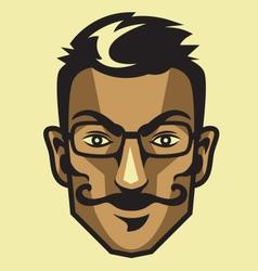 Hipster head vector