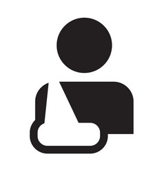 Injury icon of male person profile avatar symbol vector