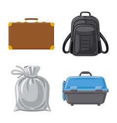 Isolated object of suitcase and baggage sign vector