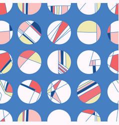 Maritime signal flag style polka dot circles vector
