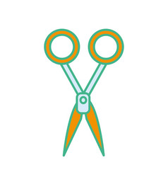 medical scissors tool surgery accessory vector image