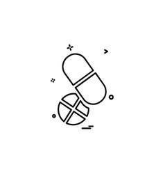 medicine icon design vector image