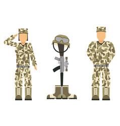 Memorial battlefield cross american honor symbol vector