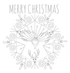 Merry christmas hexagon tribal symbol vector
