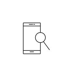 msartphone search icon vector image