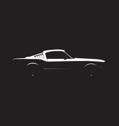 muscle car silhouette vector image