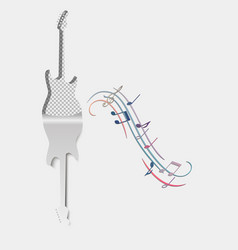 music background guitar musical acoustic vector image
