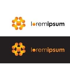 orange color logo sign icon logotype vector image