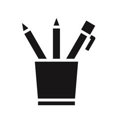 pencil case icon vector image