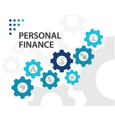 Personal finance infographics design vector
