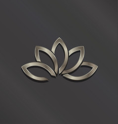 platinum lotus flower logo icon vector image