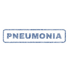 Pneumonia textile stamp vector
