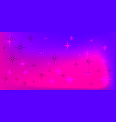 purple background with purple stars vector image