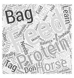 Read The Feed Bag Tag Word Cloud Concept vector image