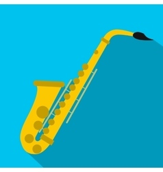 Saxophone flat icon vector