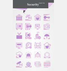 security iconsignsymbol pictograph vector image
