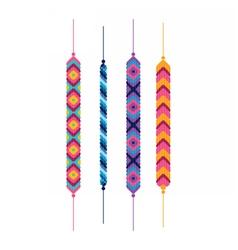 Set of friendship hippy bracelets vector image