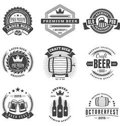 Set of Retro Vintage Beer Badges Labels Logos vector