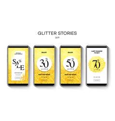 set sale web banners for social media mobile vector image