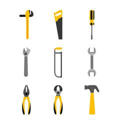 set tools construction equipment supplies vector image