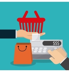 Shopping commerce and market design vector image