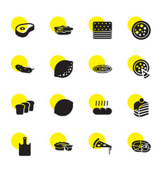 slice icons vector image