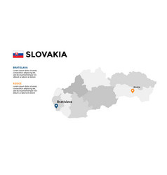 slovakia map infographic template slide vector image