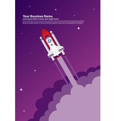 start up simple rocket web design responsive web vector image