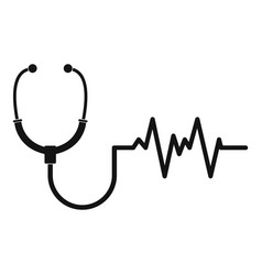 Stethoscope icon simple style vector