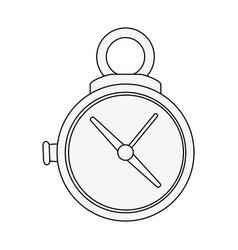 timer chronometer symbol vector image