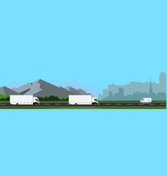 urban and suburb landscape vector image