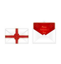 Valentines day envelopes vector image