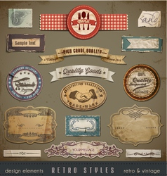 Vintage and retro design vector