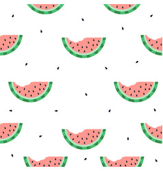 watermelon bite seamless pattern vector image