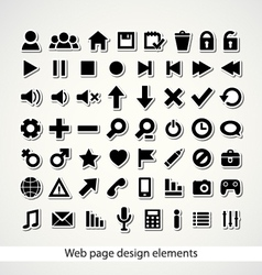 Web page design elements vector image
