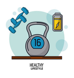 white background poster of healthy lifestyle with vector image