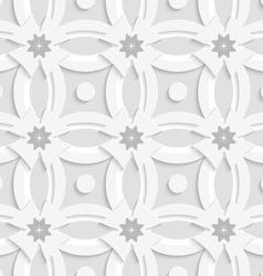 White ornament net gray flowers and white crosses vector
