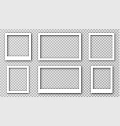 white photo frame for social media with vector image