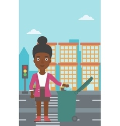 Woman throwing trash vector