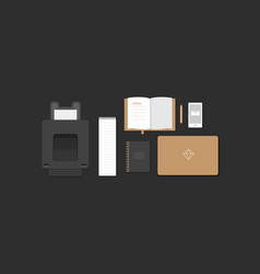 workplace in flat style vector image